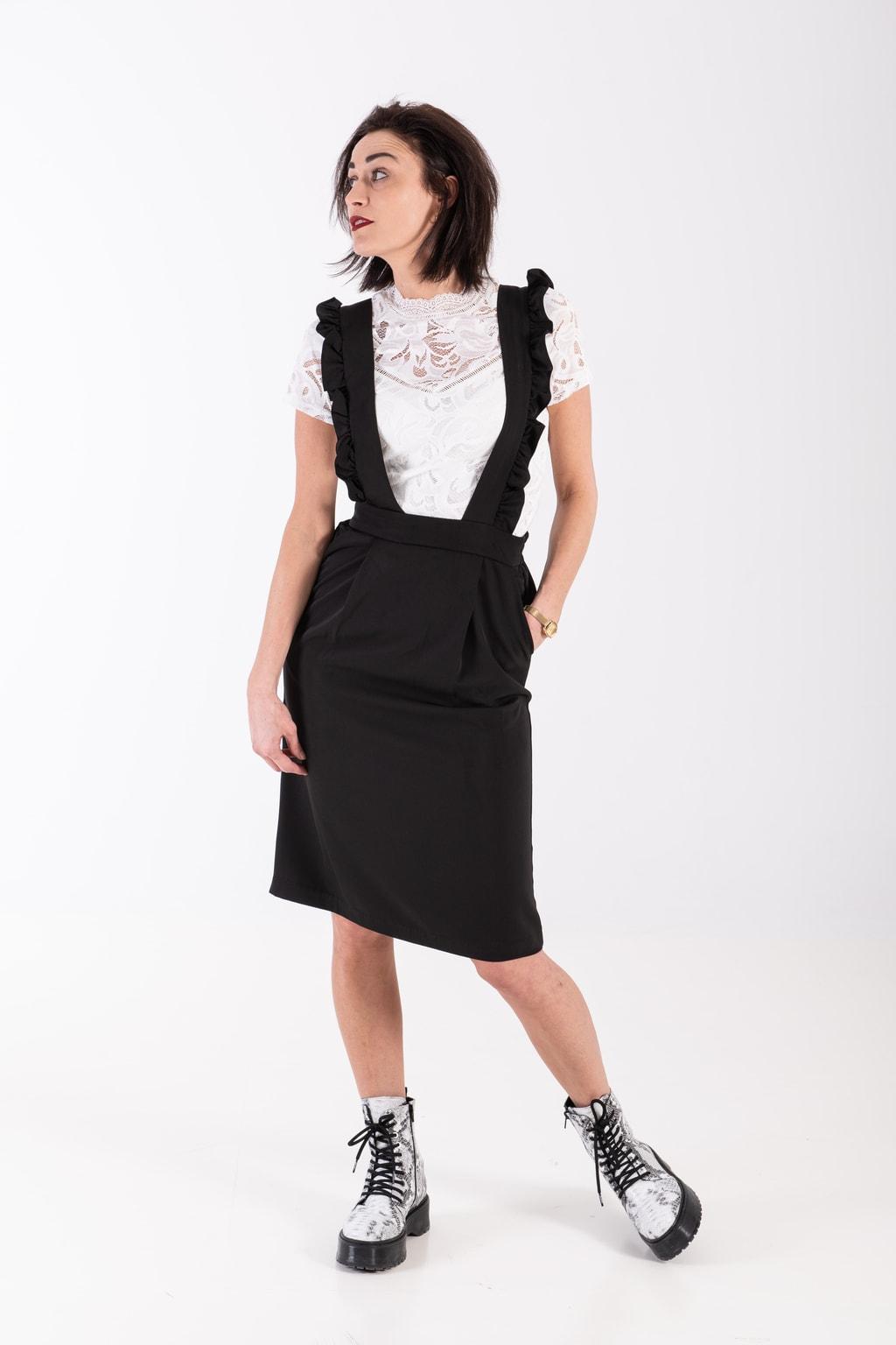 Kelly's zwarte jurk